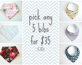 Pick Any 5 Bibs for 35 Bucks (CAD)