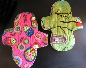 Learn to make your own cloth menstrual pads - Easy sewing pattern with Instant Download