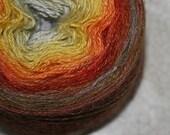 Gradient Fingering Weight Yarn  - Alpaca/Linen/Silk -100g - 400m - Buried Treasure