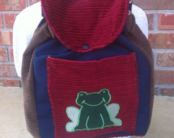 Big Kid Sized Backpack -- FROG