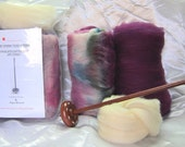 Drop Spindle Spinning Kit Vineyard Available in Either Top or Bottom Whorl