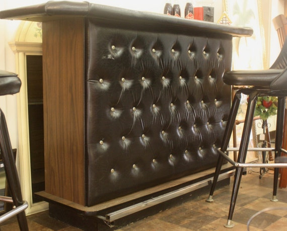 Items Similar To Black Retro Tufted Vinyl Drinking Bar