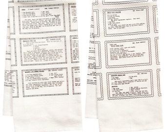 Retro Recipes organic towel set organic tea towel