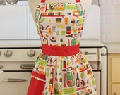 Retro Apron Sushi on White CHLOE