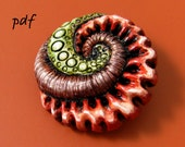 Polymer Clay Tutorial Sea Creatures, cabochons for pendants, necklaces, brooches, pdf jewelry tutorial, organic style