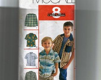 McCall's Boys' Shirts Pattern 2146