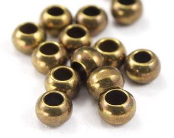 4mm Antique Brass Barrel Bead (12 Pcs) #AGM052