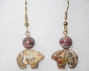 Bear Stone earrings