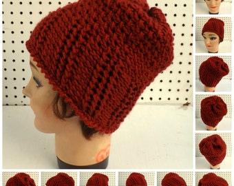 Crochet Pattern Hat,  Womens Hat Pattern,  Womens Crochet Hat Pattern,  Ribbed and Seed Stitch Crochet Beanie Hat Pattern for Beginners