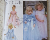 Simplicity 9036 Sewing Pattern Special Occasion Dress Gown Costume Tulle Child Toddler Size A 1/2 - 4