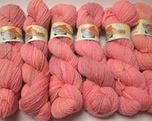CLEARANCE Falkland Fingering Solids - Hand dyed gradient wool yarn, 210 yards, 50g/1.8oz, PEACH MANGO, painted handdyed ombre