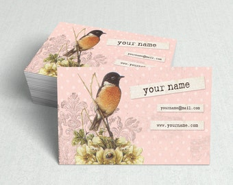 Business Cards  Custom Business Cards  Personalized Business Cards  Business Card Template  Vintage Business Cards  Bird Business Card V7