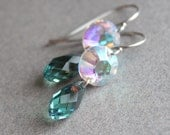 Jerica Earrings - Sterling Silver - Swarovski Crystal - Perfect for Bridesmaids