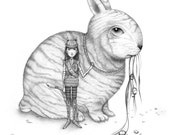 Warrior Bunny - Art Print