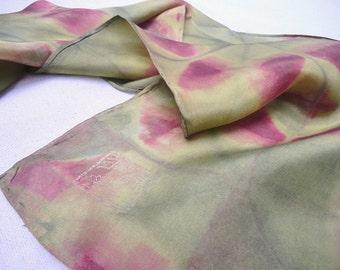 Quilt pattern in shibori on silk