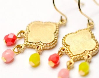 Little Beaded Chandelier Earrings- Choose one