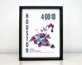 Personalized Houston Marathon Print