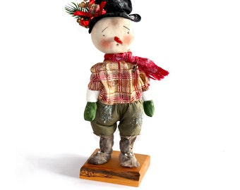 Snow Man, festive Christmas Doll decoration, Christmas in July