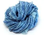 Handspun Art Yarn Blue Sky Corespun Coils galore 85g 46 Yards Merino Wool