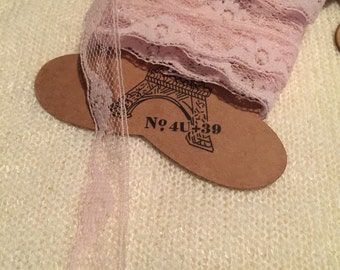 Pink Floral Lace Trim   (Free Gift Item) 6 Yards