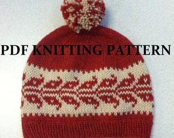 PDF Knitting Pattern - Winter Wheat Hat