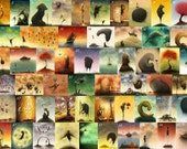 Set of Four 8.5 x 11 fine art prints