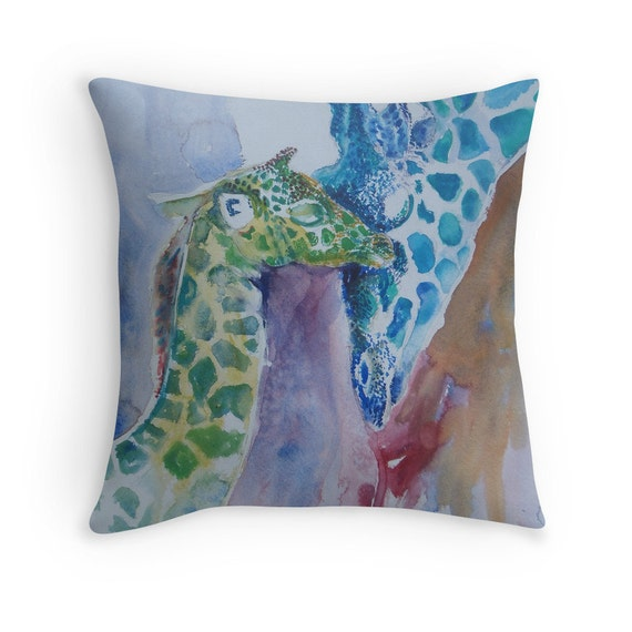 Giraffe Decorative Pillow : Giraffe pillow cover Cushion Cover Throw by StudioEmmaKaufmann