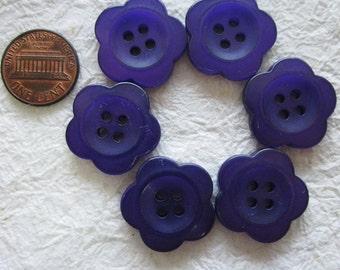4-hole Pink Flower Buttons 22 mm. - 18 pcs