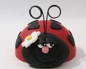 Ladybug Cake topper small size