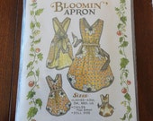 Vintage The Paisley Pincushion Bloomin Apron Sewing Pattern All sizes Ladies Childs Doll Aprons