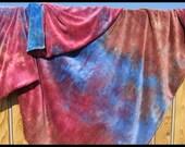 Custom Order Hand Dyed Organic Bamboo Velour Blanket - Stadium Blanket - Throw - Baby