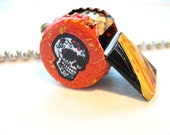 Whistle Children Toy | Day of the Dead | Art and Collectable | Mixed Media | Art Assemblage | Jewelry Pendant | Accessories Necklace | Toy