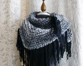 The Road Trip Scarf - Handknit Scarf with Fringe - Unisex - Made to Order