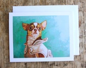 Pearl - Chihuahua Greeting Card