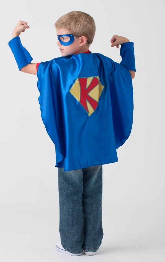 Set of 3 Personalized Custom Capes Kids Capes and (3) matching masks
