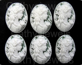 Victorian Woman Portrait Mini Cameo
