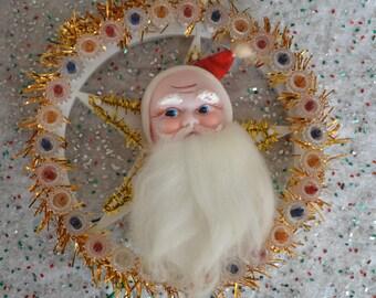 Vintage Santa Star Light Plaque