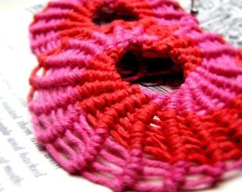 Pinwheel Macrame Hemp Earrings, Eco-chic Jewelry, Hemp Jewelry