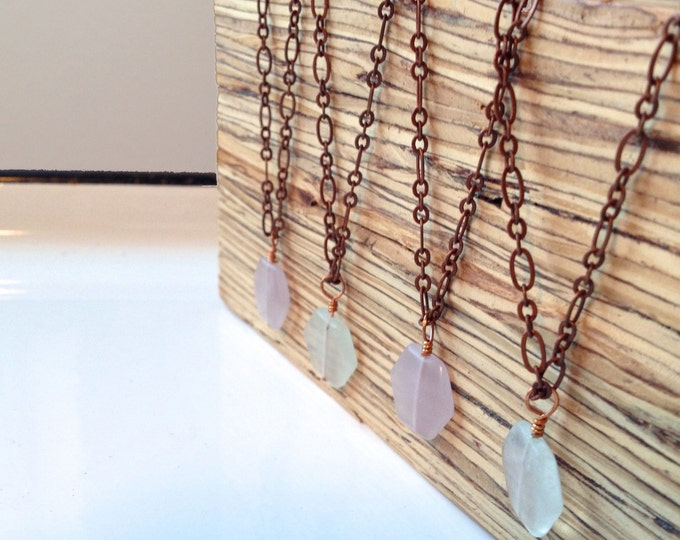 Clearance Sale: **READY TO SHIP** Minimalist Necklace. Fluorite.