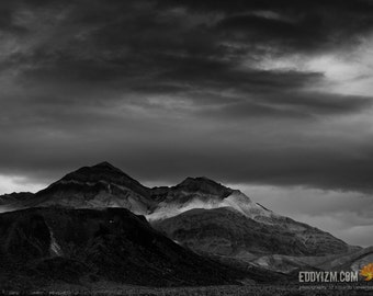 Darkness /  Death Valley Mountains / Death Valley National Park / BW Landscape Photography