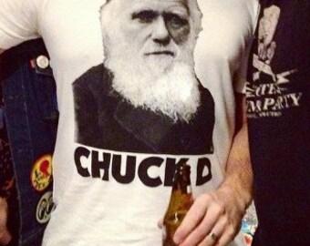 Chuck D Charles Darwin Tshirt White