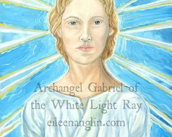 Archangel Gabriel, 8 x 10 angel art, energy art print