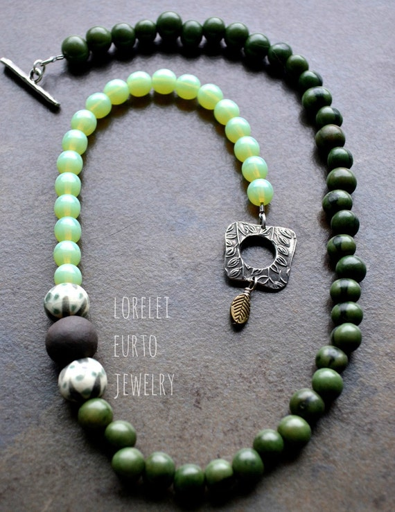 lorelei eurto jewelry items similar to green acai seed beaded necklace with 5229