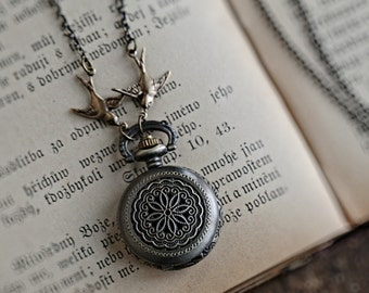 Brass Pocket Watch Necklace number 16