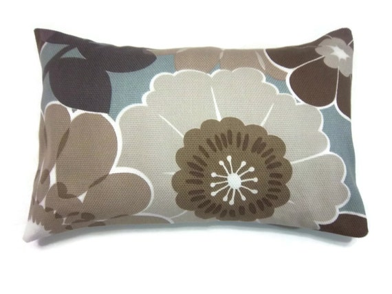 Decorative Pillow Covers Brown Gray Taupe Cadet Blue Lavender