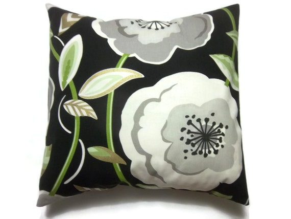 Decorative Pillow Cover Black White Gray Gold Lime Green Big