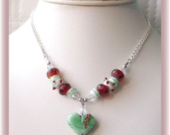 Christmas Delight ~ Artisan Lampwork Chain Necklace