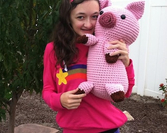 Crocheted Pig Pillow Plus Amigurumi Pig PDF Pattern