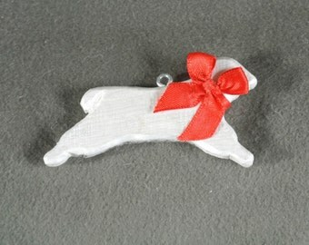 White Sheep Home Decor Hanger-sculpted, hand painted