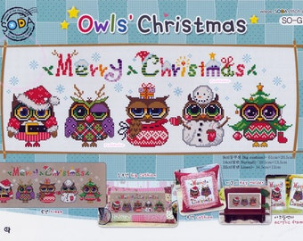 Owl's Christmas - G71 - Counted Cross Stitch Original Design Pattern Chart